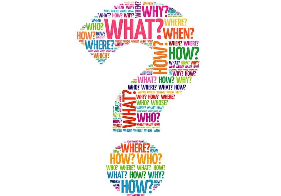 Question mark Question Word Cloud collage business concept background